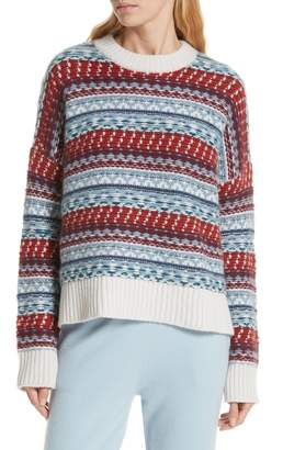 Nordstrom Signature Fair Isle Cashmere Sweater