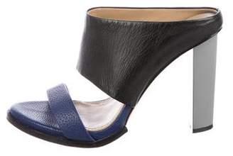 BCBGMAXAZRIA Leather Slide Sandals