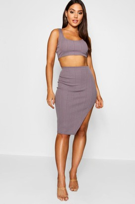 boohoo Bandage Skirt and Crop Top Co-ord Set