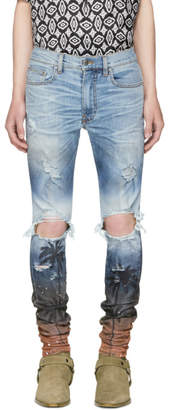 Amiri Blue Palm Thrasher Jeans