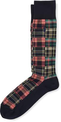 Ralph Lauren Madras Patchwork Trouser Socks