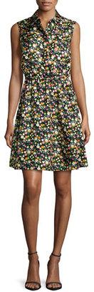 Tory Burch Ryder Floral-Print Silk Shirtdress, Vilette $350 thestylecure.com