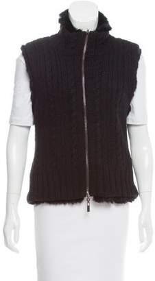 Christian Lacroix Fur-Lined Wool Vest