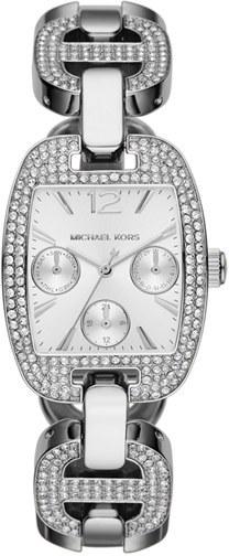 MICHAEL Michael Kors Michael Kors 'Emma' Pavé Crystal Bracelet Watch, 38mm x 29mm