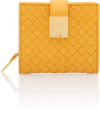 Bottega Veneta Small Intrecciato Velvet Wallet