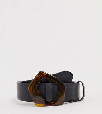 Asos DESIGN Curve abstract tort waist and hip belt