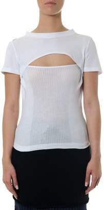 Alexander Wang White Cotton T-shirt With Tank Effect