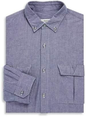 Valentino Men's Point Collar Cotton Classic-Fit Dress Shirt