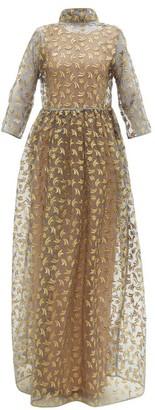 Maison Rabih Kayrouz Star Embroidered Organza Gown - Womens - Grey Multi