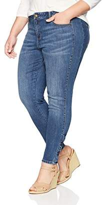 Denim Crush Women's Tailored Sideseam Bowtie Skinny Jean Plus Size