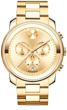 Movado Bold Gold Chronograph Watch 3600278