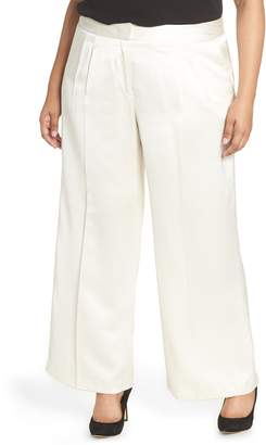 Vince Camuto High Rise Wide Leg Satin Pants