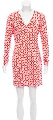 Diane von Furstenberg New Reina Silk Mini Dress w/ Tags
