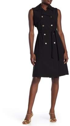 Sharagano Sleeveless Double Breasted Dress