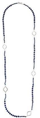 Elizabeth Showers Lapis & Sapphire Bead Strand Necklace