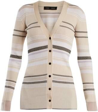 Proenza Schouler V-neck ribbed-knit striped cardigan