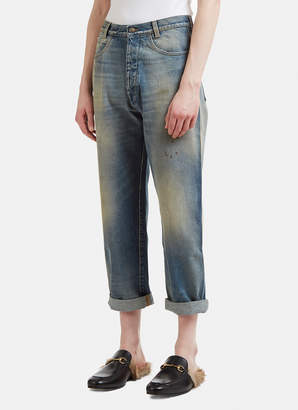 Gucci Tapered Denim Jeans in Blue
