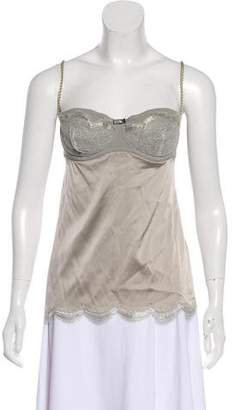 Dolce & Gabbana Lace Accented Zip-Up Camisole