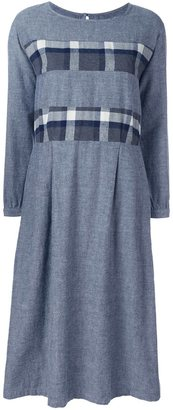 Blue Blue Japan plaid striped dress $384.69 thestylecure.com