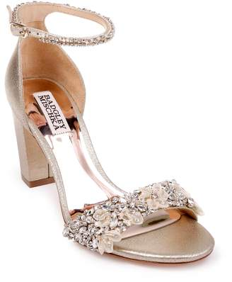 Badgley Mischka Collection Finesse Embellished Ankle Strap Sandal
