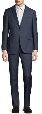Ted Baker Windowpane Wool Suit