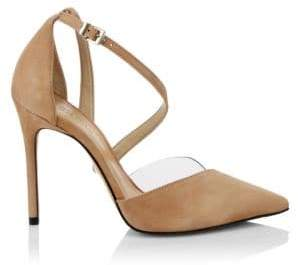Schutz Nissy Ankle-Strap Suede d'Orsay Pumps