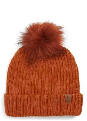 Brixton Alison Faux Fur Pom Beanie Hat