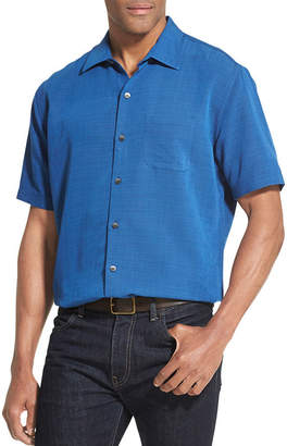 Van Heusen Air Sandwashed Short Sleeve Button-Down Camp Shirt
