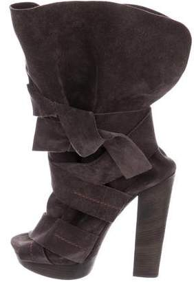 Chloé Suede Mid-Calf Boots