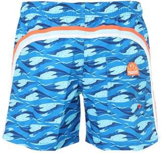 Sundek Printed Nylon Swim Shorts