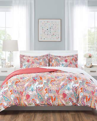 Nicole Miller Kid's 5-Piece Reversible Comforter Set Twin