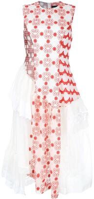 Simone Rocha applique asymmetric dress