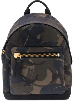 Tom Ford camouflage print backpack