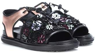 Marni Exclusive to mytheresa.com – Embellished leather sandals