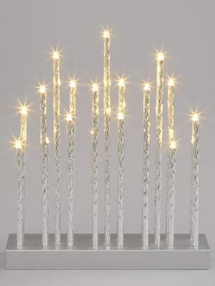 Very Silver Tube Candle Light Christmas Decoration
