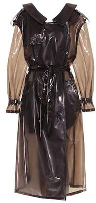 Unravel Transparent trenchcoat