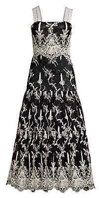 Alexis Women's Karolina Embroidered Lace Tea Dress