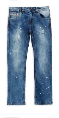 Diesel Little Boy's Distressed Washed Jeans
