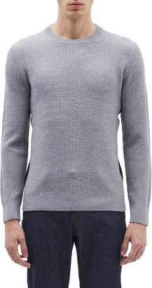 Theory Stripe outseam Merino wool sweater