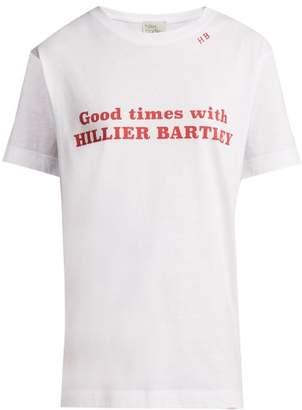 Hillier Bartley - Good Times Print Cotton T Shirt - Womens - White Multi
