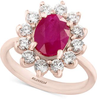 Effy Amore by Certified Ruby (1-9/10 ct. t.w.) and Diamond (9/10 ct. t.w.) Ring in 14k Rose Gold