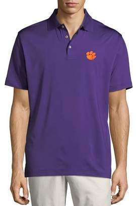 Peter Millar Men's Clemson University Solid Stretch Jersey Polo Shirt