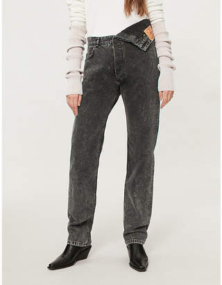 Y/Project Asymmetric-waist high-rise straight jeans