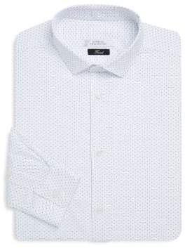 Versace Geometric-Print Cotton Dress Shirt