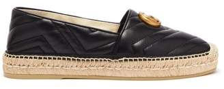 Gucci Pilar Gg Quilted Leather Espadrilles - Womens - Black