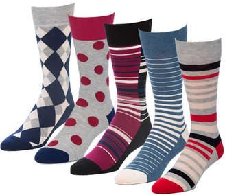DAY Birger et Mikkelsen Strollegant Excess Red 5 Pairs Men's Crew Socks
