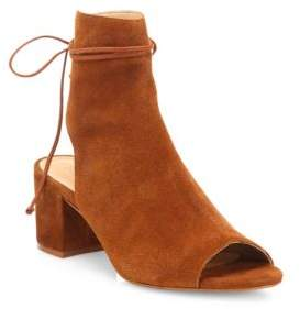 Binalia Cutout Suede Block-Heel Booties $180 thestylecure.com