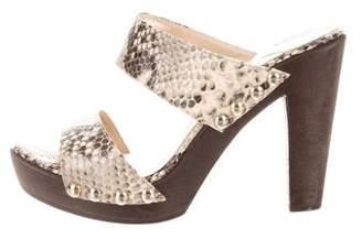 Jimmy Choo Snakeskin Slide Sandals