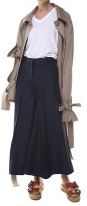 Rokh Fluted-leg High-rise Trousers