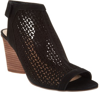 Vince Camuto Perforated Leather Peep- Toe Sandals - Dastana